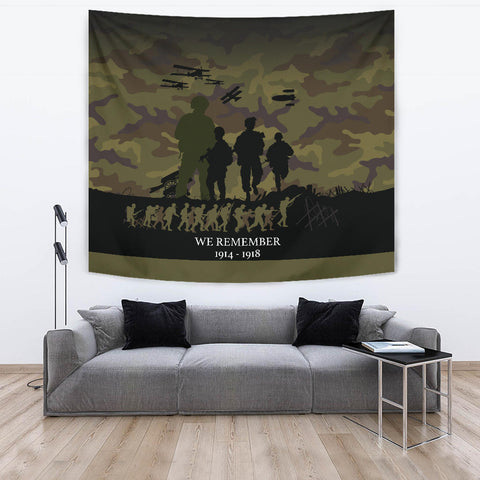 We Remember Anzac Camo New Zealand Tapestry K5 - 1st New Zealand