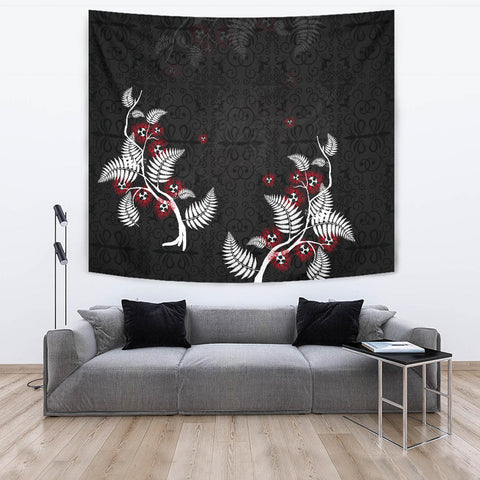 Image of New Zealand Pohutukawa Tapestry - Black K5 - 1st New Zealand