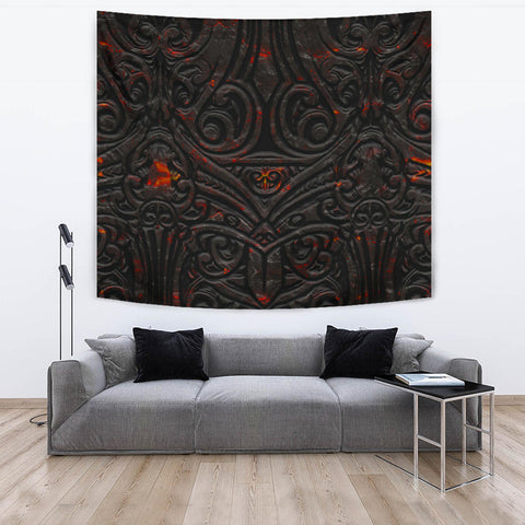 Image of New Zealand Warriors Tapestry Maori Tiki Vocalno Style Th00 - 1st New Zealand