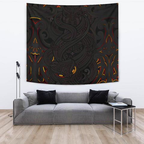 Image of New Zealand Tapestry, Maori Gods Tumatauenga (God of War) - Black K4 - 1st New Zealand