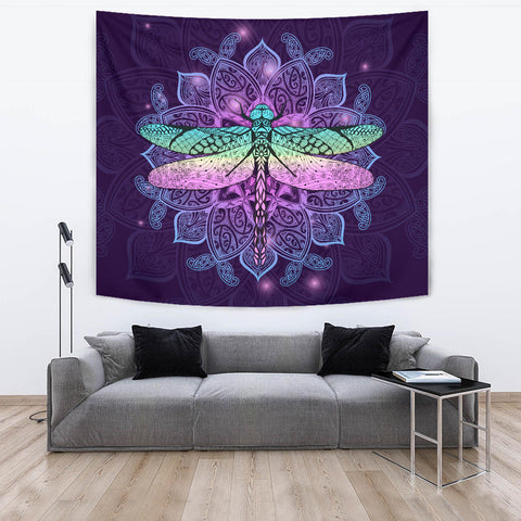Maori Mandala Dragonfly Tapestry K5 - 1st New Zealand