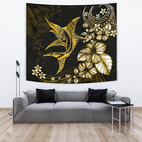 Marlin Polynesian Tapestry Hibiscus Polynesian Yellow TH5 - 1st New Zealand
