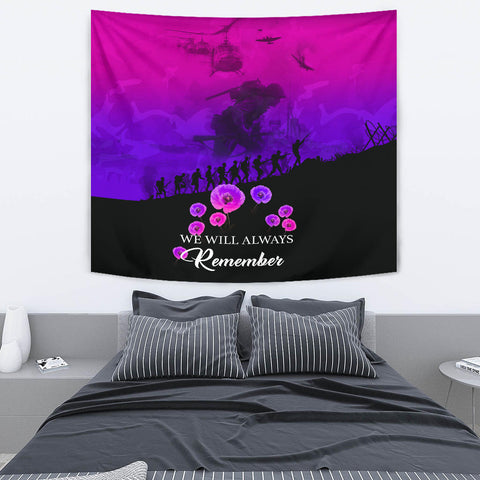 Remember Anzac New Zealand Tapestry Pink K5 - 1st New Zealand