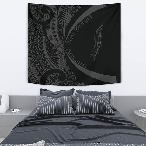Image of New Zealand Silver Fern Tapestry Maori Tattoo Circle Style J95 - 1st New Zealand