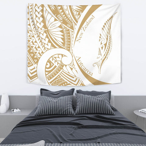 New Zealand Silver Fern Tapestry Maori Tattoo Circle Style - White J95 - 1st New Zealand