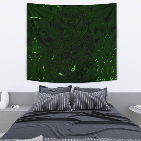 New Zealand Tapestry, Maori Gods Tumatauenga (God of War) - Green K4 - 1st New Zealand