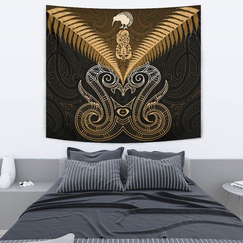 Maori Manaia New Zealand Tapestry Gold K4 - 1st New Zealand