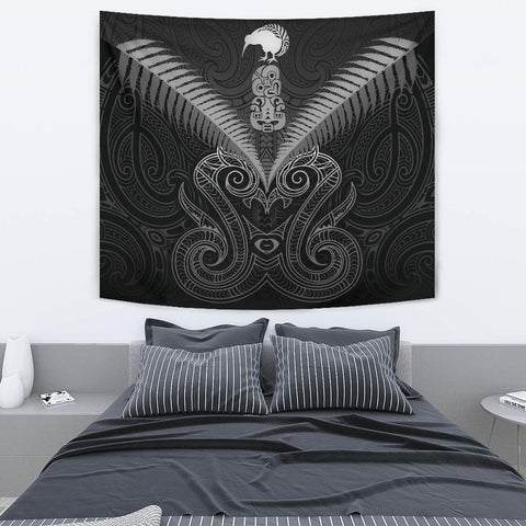 Maori Manaia New Zealand Tapestry Gray K4 - 1st New Zealand