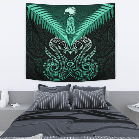Maori Manaia New Zealand Tapestry Turquoise K4 - 1st New Zealand