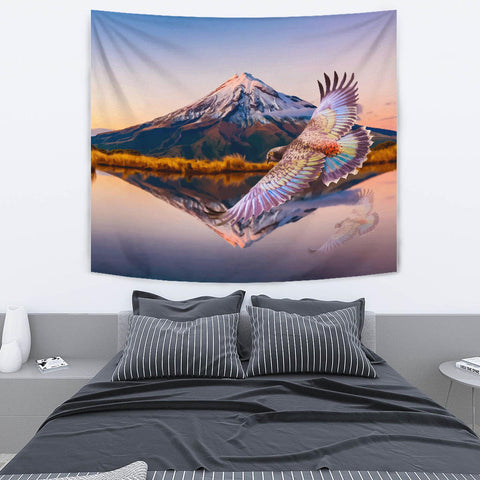New Zealand Kea Bird Mount Taranaki Tapestry K4 - 1st New Zealand