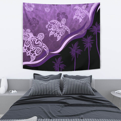 Purple Turtle Hibiscus Tapestry K5 - 1st New Zealand