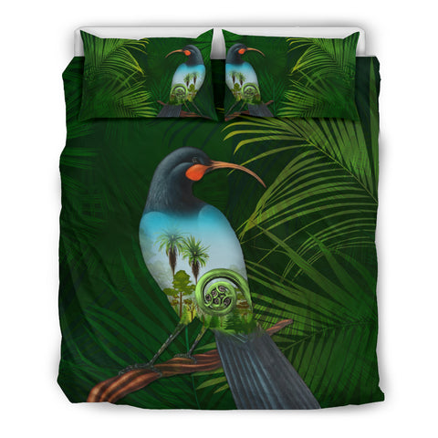 New Zealand Bedding Set, Huia Bird Duvet Cover And Pillow Case K5 - 1st New Zealand