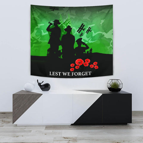 Anzac Heroes New Zealand Green - Lest We Forget Tapestry K5 - 1st New Zealand