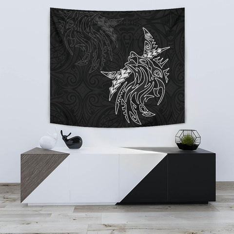 Image of New Zealand Maori Tattoo Wolf Tapestry K5 - 1st New Zealand