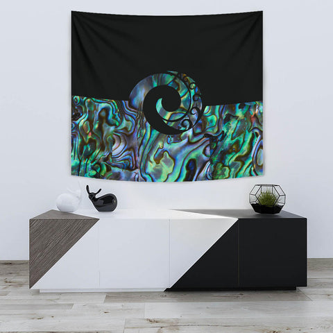 Image of Koru Paua Shell New Zealand Tapestry K5 - 1st New Zealand
