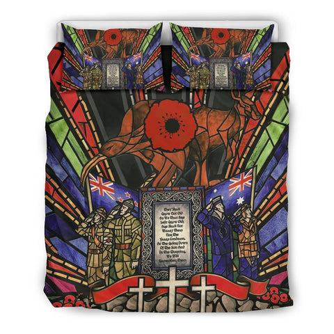New Zealand Bedding Set, Anzac Day Lest We Forget Australia Duvet Cover And Pillow Case Th00 - 1st New Zealand