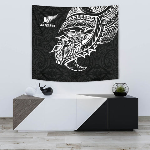 Image of Maori Tattoo Tapestry Polynesian Style Black K4 - 1st New Zealand