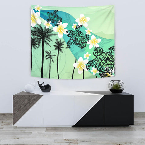 Plumeria Sea Turtle Tapestry K5 - 1st New Zealand