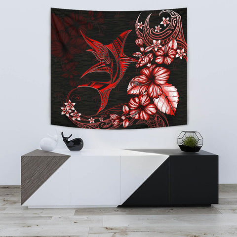 Marlin Polynesian Tapestry Hibiscus Polynesian Red TH5 - 1st New Zealand