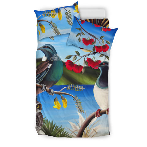 Image of New Zealand Native Birds Bedding Set K5 - 1st New Zealand