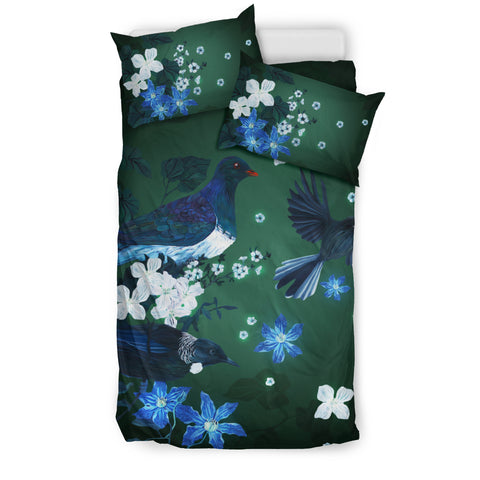 Image of New Zealand Bedding Set, Native Bird Duvet Cover And Pillow Case K5 - 1st New Zealand