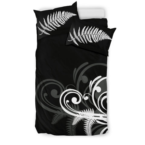 Image of Silver Fern New Zealand Bedding Set Black L15 - 1st New Zealand