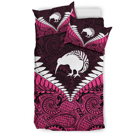 New Zealand Kiwi Fern Bedding Set Pink K4
