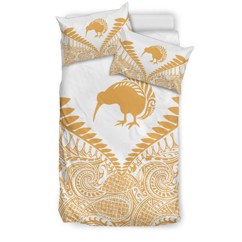 New Zealand Kiwi Fern Bedding Set White Beige 2