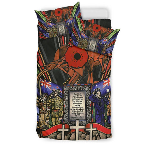 Image of New Zealand Bedding Set, Anzac Day Lest We Forget Australia Duvet Cover And Pillow Case Th00 - 1st New Zealand