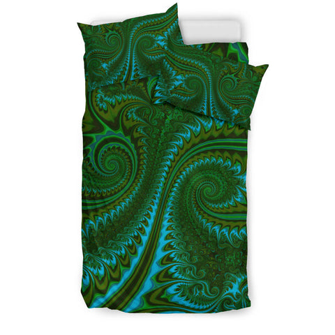 New Zealand Bedding Set, Koru Fern Duvet Cover And Pillow Case - Abstract Style 02 K4 - 1st New Zealand