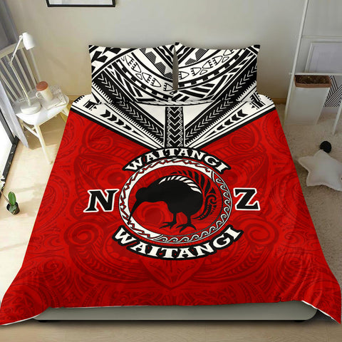New Zealand Maori Bedding Set Waitangi Day - Red K5