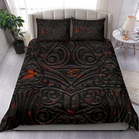 New Zealand Warriors Bedding Set Maori Tiki Vocalno Style Th00 - 1st New Zealand