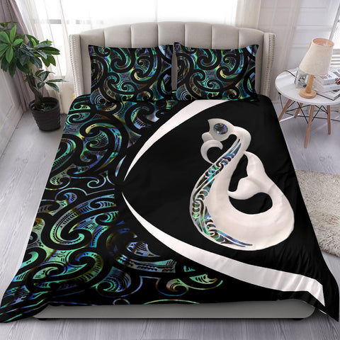 Image of New Zealand Maori Manaia Paua Shell Bedding Set - Circle Style J95 - 1st New Zealand