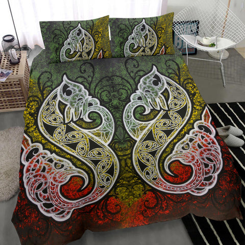 Maori Manaia Bedding Set Painting K4 - 1st New Zealand