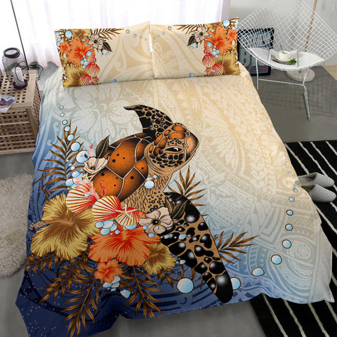 Polynesian Turtle Hibiscus Sea Shell Bedding Set K5 - 1st New Zealand