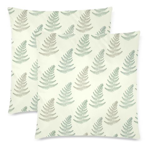 New Zealand Fern Leaves Pattern Zippered Pillow Cases 08 - 1st New Zealand