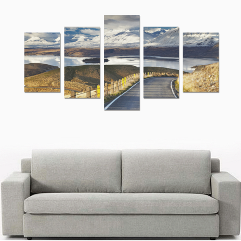 Image of New Zealand Southern Alps and Lake Tekapo Canvas Print K4 - 1st New Zealand