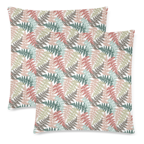 New Zealand Fern Leaves Pattern Zippered Pillow Cases 23