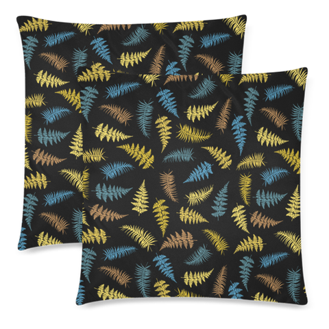 New Zealand Fern Leaves Pattern Zippered Pillow Cases 19 - 1st New Zealand