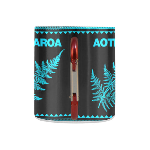 Aotearoa New Zealand Maori Insulated Mug Blue K4x - 1st New Zealand