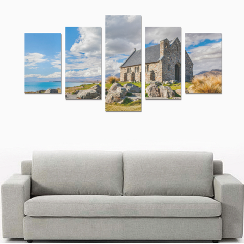 Image of New Zealand Landscape Canvas Print - Church of the Good Shepherd K4 - 1st New Zealand