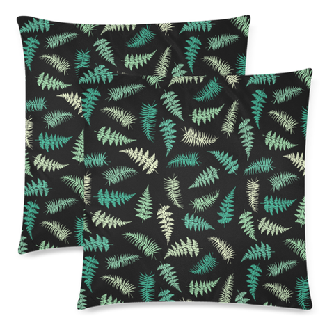 New Zealand Fern Leaves Pattern Zippered Pillow Cases 11