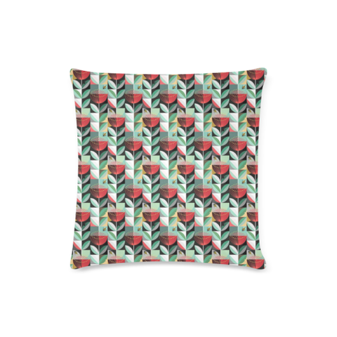 New Zealand Pohutukawa Pattern Zippered Pillow Cases 02
