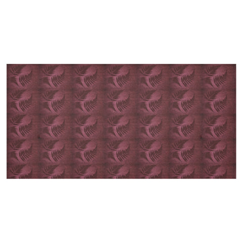 Image of Burgundy New Zealand Fern Tablecloth A02 - 1st New Zealand