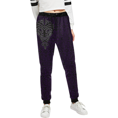 Maori Face - Dark Purple Sweatpants K24