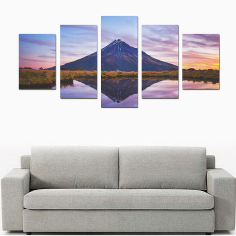 New Zealand Mount Taranaki at Sunset Canvas Print K4 - 1st New Zealand