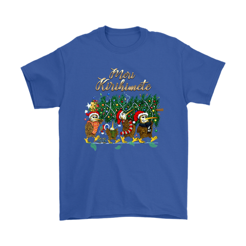 New Zealand Kiwi Christmas T Shirt k5