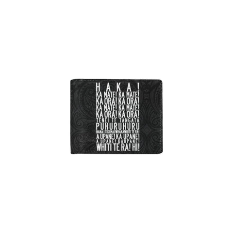 Image of Rugby Haka New Style Mini Bifold Wallet left