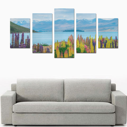 New Zealand Lupins Colorful at Lake Tekapo Canvas Print K4 - 1st New Zealand