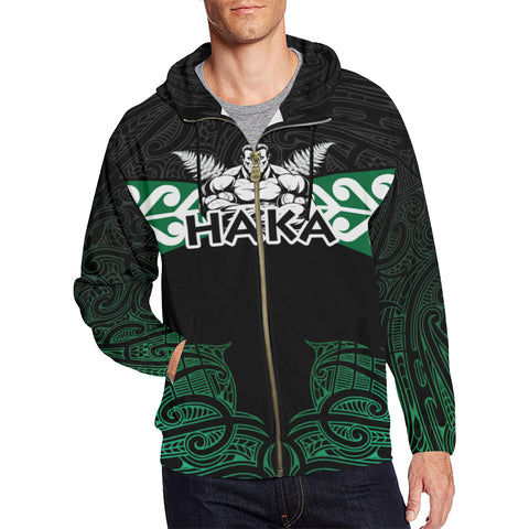 Image of Aotearoa Rugby Zip Hoodie - Kia Kaha Stay Strong Th00 - 1st New Zealand